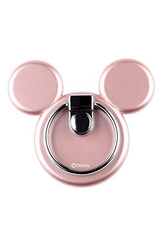 ディズニー キャラクター スマホ iPhone バンカーリング マルチホルダー ミッキー アイコン ローズゴールド