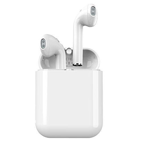 完全ワイヤレスイヤホン Langsdom 高音質 Bluetooth4.2 片耳 両耳 ワンボタン設計 左右分離 充電式収納ケース マイク付き通話可能 ブルートゥース iPhone Android対応 LT7 (ホワイト)