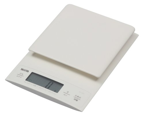 タニタ デジタルクッキングスケール 3kg/0.1g ホワイト KD-320-WH パン作りにおすすめ