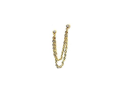 [해외]i.axe18G 연골 체인 디자인 바디 피어싱 귀 피어싱 연골 귀걸이/i.axe 18G cartilage chain design body piercing ear earrings cartilage earrings