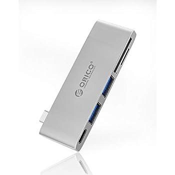 ORICO USB C ハブ 5in1 USB Type C ハブ ドッキングステーション PD 充電対応 USB 3.0ポート*2 変換アダプタ 高速データ転送 SD/TF カードリーダー 変換アダプタ LEDライト付き HP/DELL/SAMSUNG Dex/MacBook Pro/MacBook 13インチ/スマホなど対応