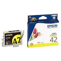 (まとめ) エプソン EPSON インクカートリッジ イエロー ICY42 1個 【×4セット】 AV デジモノ パソコン 周辺機器 インク インクカートリッジ トナー インク カートリッジ エプソン(EPSON)用 [並行輸入品]