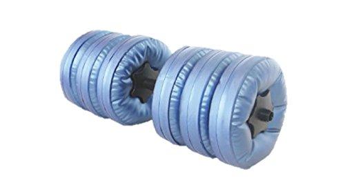 【インテリアル】 ウォーター ダンベル 2個セット (ジョウゴ・延長ハンドル付) 青 ブルー 水量で重量調節可能(3?12?) コンパクト 収納 持ち運び 簡単 ダンベル トレーニング(内容) ウエイト シャフト 固定ナット 延長用シャフト o-awd-st