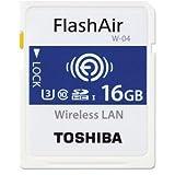 東芝 Flash Air W-04 第4世代 SDHC 16GB R:90MB/s THN-NW04W0160C6 Toshiba [並行輸入品]