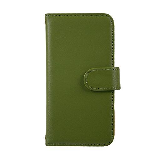 [スマ通] XPERIA XA F3113 / F3115 / F3116 スマホケース スマホカバー 携帯ケース 携帯カバー 手帳型 本革 グリーン SONY ソニー エクスペリア エックスエー SIMフリー 海外端末