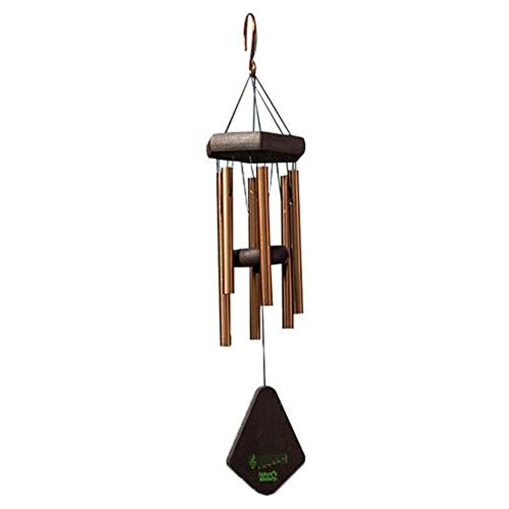 合図細部信仰Hongyushanghang 風チャイム、メタル6チューブ風の鐘、ブラック、全身について52CM,、ジュエリークリエイティブホリデーギフトを掛ける (Color : Gold)