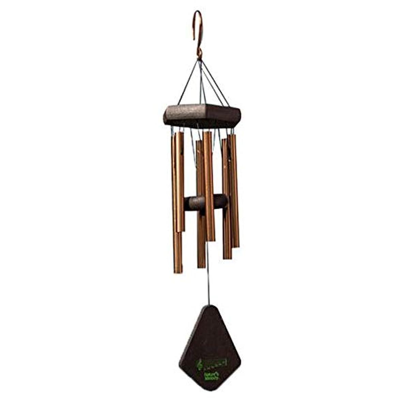 国歌ベックス匿名Fengshangshanghang 風チャイム、メタル6チューブ風の鐘、ブラック、全身について52CM,家の装飾 (Color : Gold)