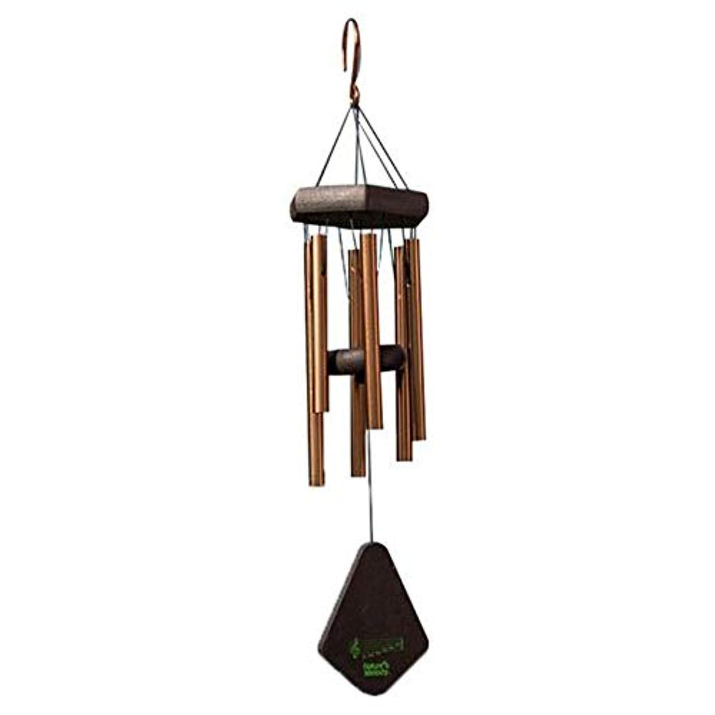プライバシー樫の木顕現Jingfengtongxun 風チャイム、メタル6チューブ風の鐘、ブラック、全身について52CM,スタイリッシュなホリデーギフト (Color : Gold)