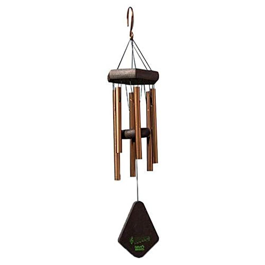 予知隣人サワーJielongtongxun 風チャイム、メタル6チューブ風の鐘、ブラック、全身について52CM,絶妙な飾り (Color : Gold)