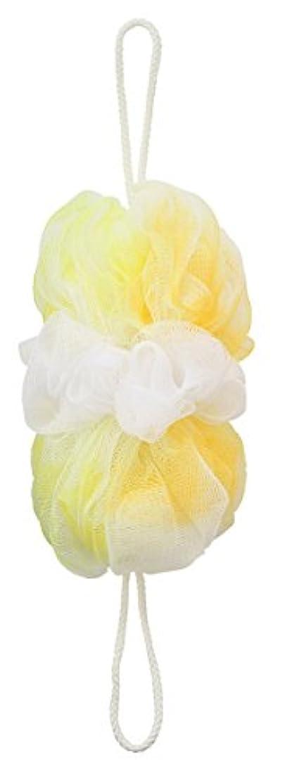 ジャムラジカル冷酷なマーナ ボディースポンジ 「背中も洗えるシャボンボール オーロラ」 イエロー B587Y