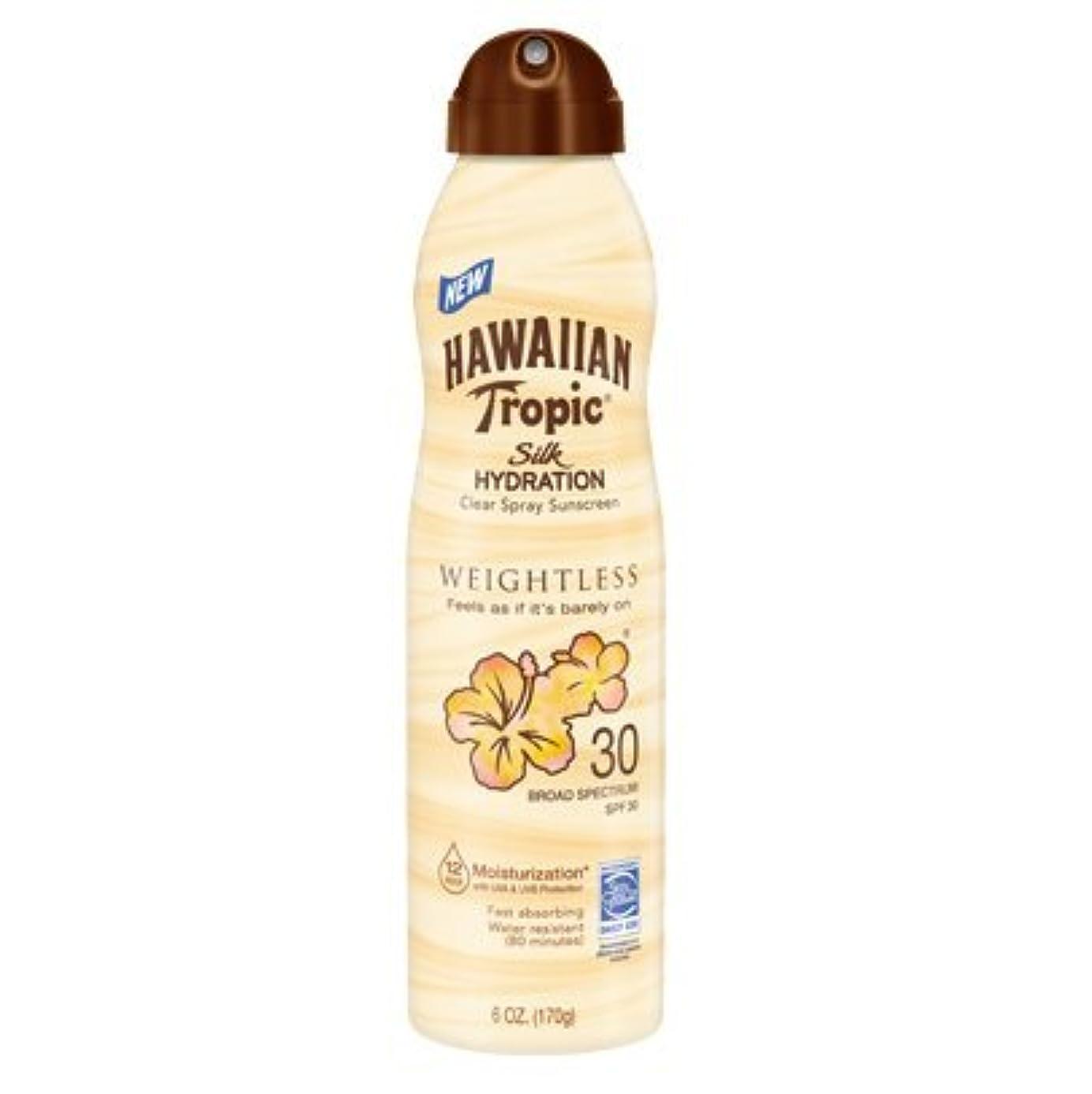 対処する根拠集まる【海外直送】ハワイアントロピック 12時間持続 日焼け止めミスト SPF30 (177ml) Hawaiian Tropic Silk Hydration Clear Mist Spray Sunscreen SPF 30...