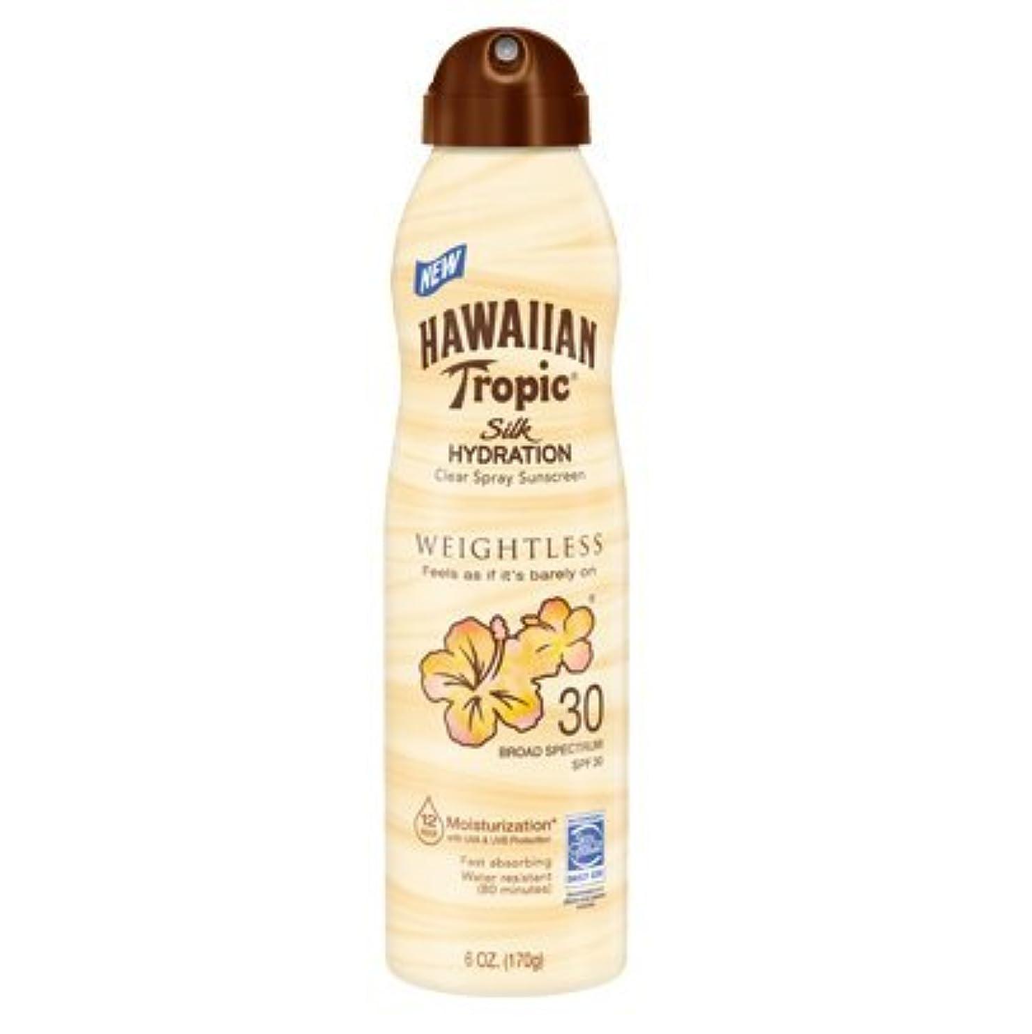 暴露スコア天使【海外直送】ハワイアントロピック 12時間持続 日焼け止めミスト SPF30 (177ml) Hawaiian Tropic Silk Hydration Clear Mist Spray Sunscreen SPF 30...