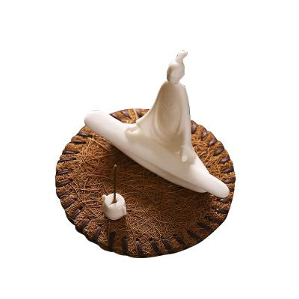なんとなく移植開いたPHILOGOD 線香立て 陶器香炉弾く琵琶スタイリング仏壇用香置物 香皿