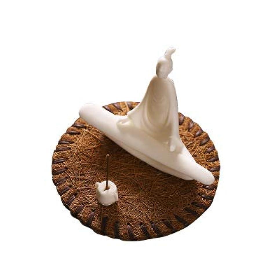 より平らな仕事に行く有名PHILOGOD 線香立て 陶器香炉弾く琵琶スタイリング仏壇用香置物 香皿
