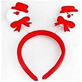HuaQingPiJu-JP クリスマスパーティーヘッドフープヘッドバンドクリスマス用品クリスマスデコレーション(スノーマンヘッドバックル)