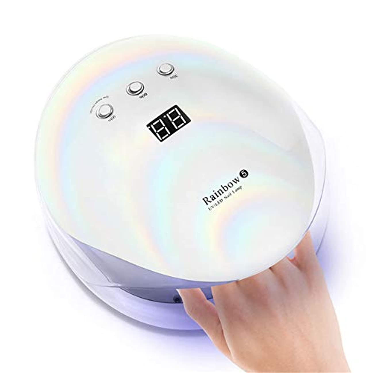 カラス慰め慣性36ワットUV LEDネイルランプジェルポリッシュネイルドライヤースマートセンサータイマープロフェッショナルLCDスクリーンマニキュアランプネイルアートツール