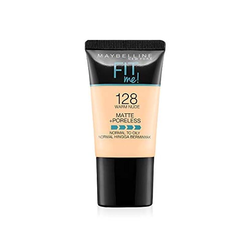 信頼性洗練うまMaybelline New York Fit Me Matte+Poreless Liquid Foundation Tube, 128 Warm Nude, 18ml