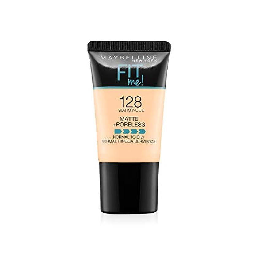 未亡人壮大密輸Maybelline New York Fit Me Matte+Poreless Liquid Foundation Tube, 128 Warm Nude, 18ml