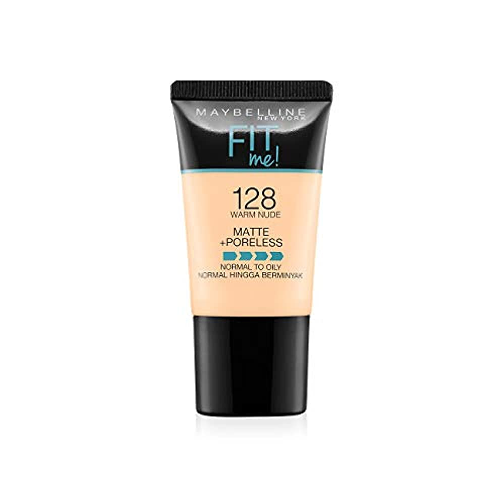 護衛帳面脊椎Maybelline New York Fit Me Matte+Poreless Liquid Foundation Tube, 128 Warm Nude, 18ml