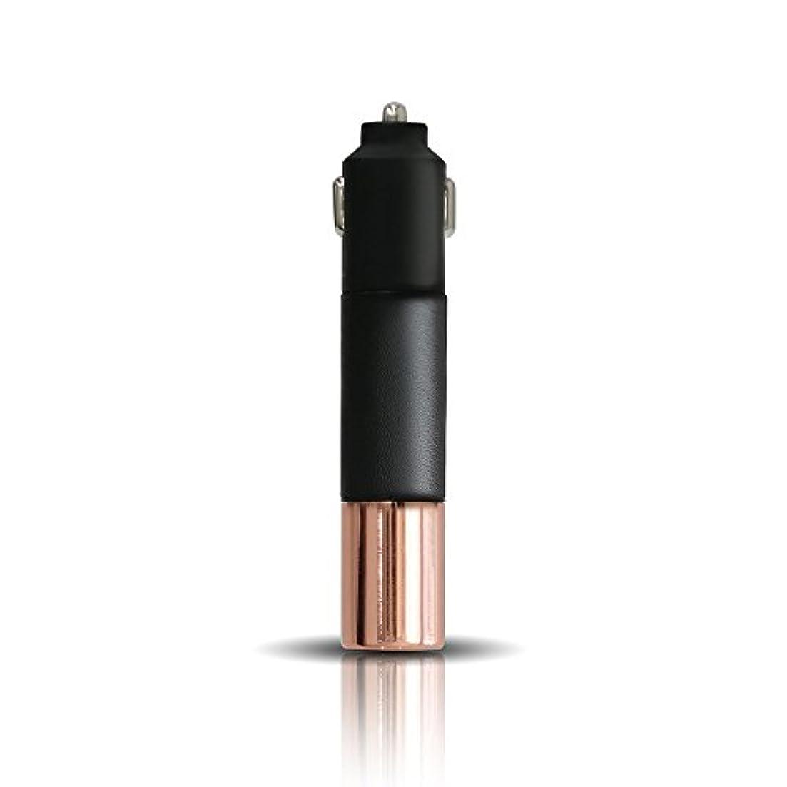 ではごきげんようカルシウムチップPRISMATE(プリズメイト) Driving Aroma Diffuser Leather and Metal PR-AD02C (BK(ブラック))