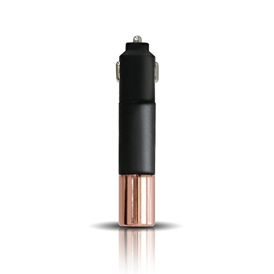 投げる発動機膨張するPRISMATE(プリズメイト) Driving Aroma Diffuser Leather and Metal PR-AD02C (BK(ブラック))
