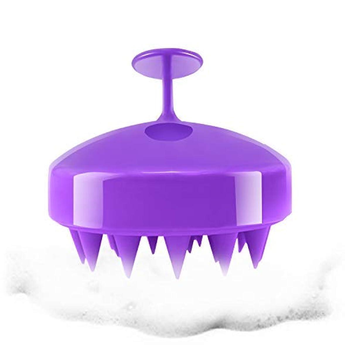 ブーム暴徒霊Hair Scalp Massager, Hanamichi Shampoo Massager Brush Wet & Dry Hairs Scalp Massage Brush Cleaning Shower Soft...
