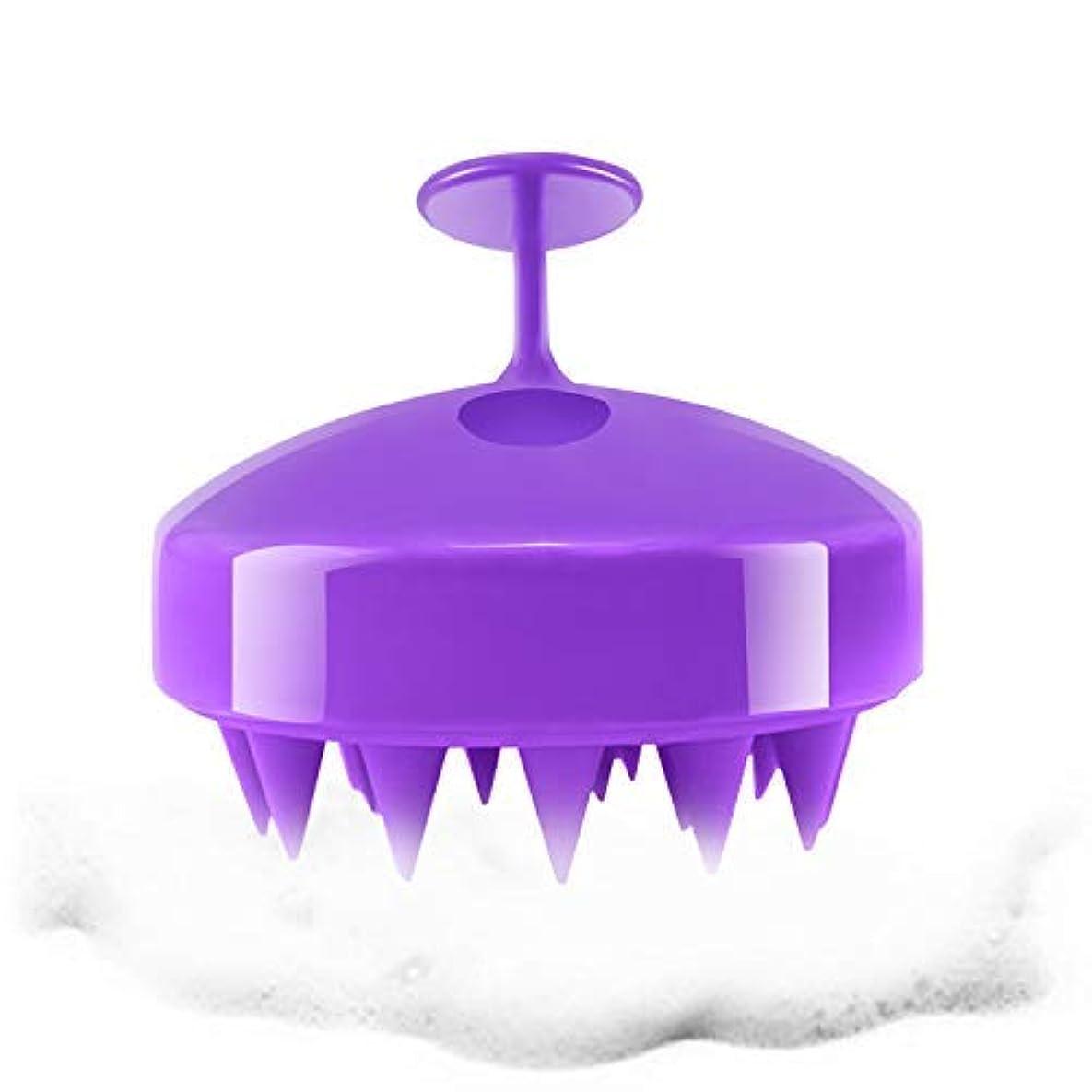 持参嘆願説明的Hair Scalp Massager, Hanamichi Shampoo Massager Brush Wet & Dry Hairs Scalp Massage Brush Cleaning Shower Soft...
