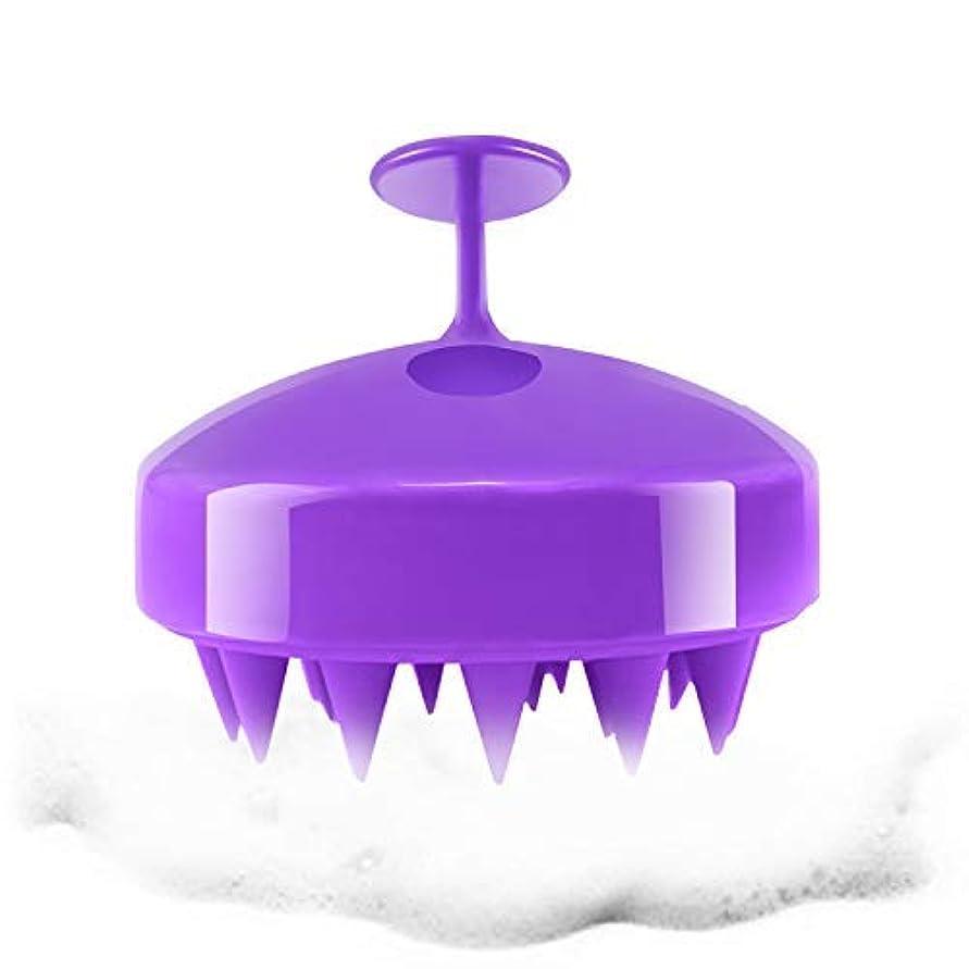 パラシュートペインギリック波紋Hair Scalp Massager, Hanamichi Shampoo Massager Brush Wet & Dry Hairs Scalp Massage Brush Cleaning Shower Soft...