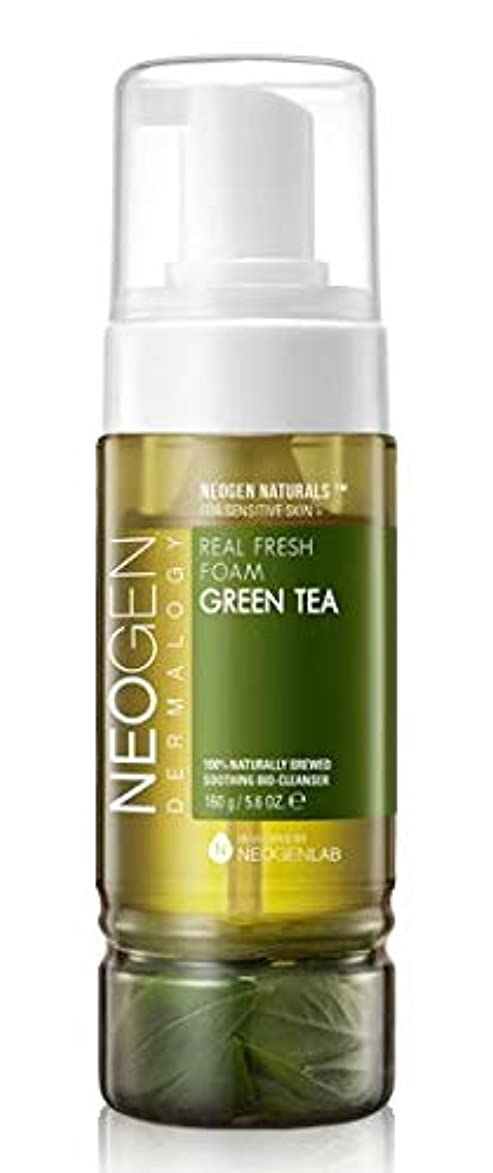 二週間なぜペデスタル[NEOGEN] REAL FRESH FOAM GREEN TEA 160g /[ネオゼン] リアルフレッシュフォーム グリーンティー 160g [並行輸入品]