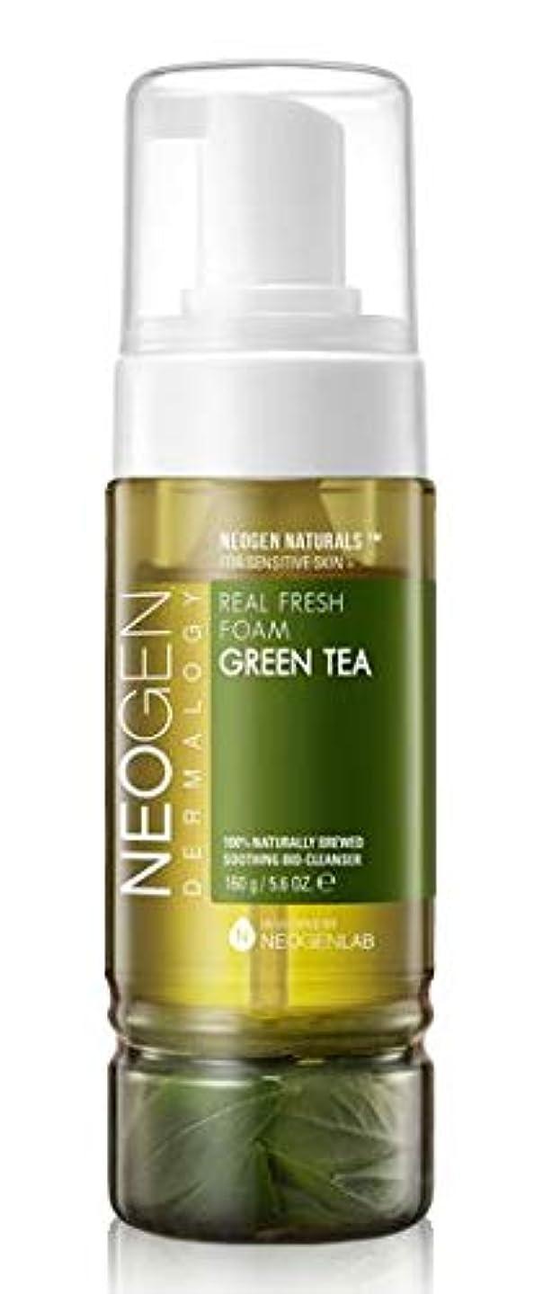 マインドフルスラック津波[NEOGEN] REAL FRESH FOAM GREEN TEA 160g /[ネオゼン] リアルフレッシュフォーム グリーンティー 160g [並行輸入品]