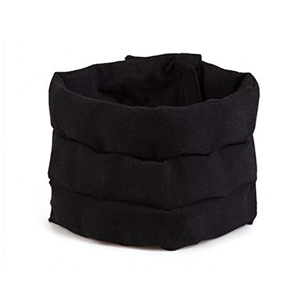 中止しますオプショナルカロリーアイスパック 頭痛帽子 ウェアラブル 冷却パック 緊張性片頭痛用 イシングサポーター 頭痛の緩和 60x15cm ブラック