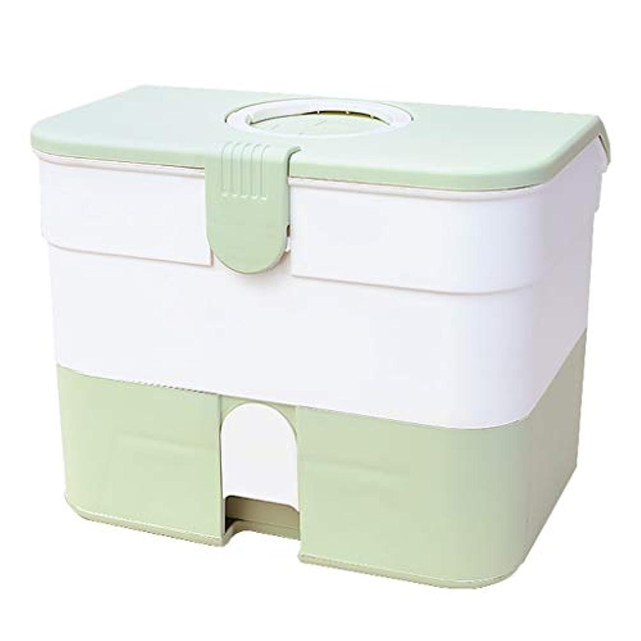 何虐待洗剤救急箱 薬箱 緑 救急ボックス 応急ボックス 医療箱 収納ケース 道具箱 引き出し箱 救急ケース ツールボックス 薬入れ 小物入れ 大容量 家庭用 車用 多機能 緊急 防災 応急手当 応急処置 プラスチック スポーツ
