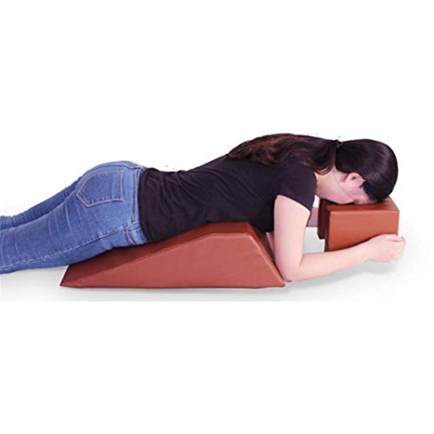かごブレーク属する腹臥位クッション、眠りやすい腹臥位、腰痛軽減、バックセラピー