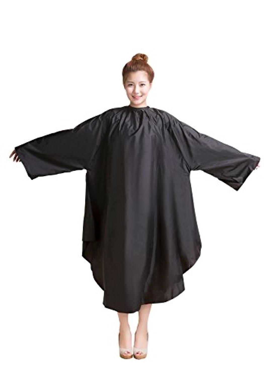 バンガロー冷淡なスケッチ袖付カラークロス/マジックタイプ 全2色【大きい椅子対応】 (ブラック)