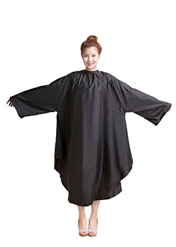 太字アノイグレー袖付カラークロス/マジックタイプ 全2色【大きい椅子対応】 (ブラック)