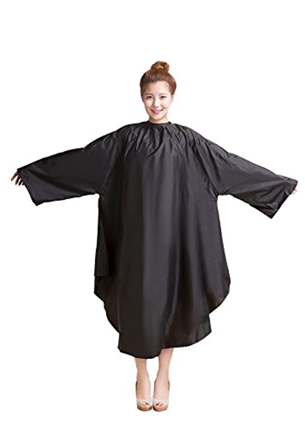 湿度提供する服袖付カラークロス/マジックタイプ 全2色【大きい椅子対応】 (ブラック)