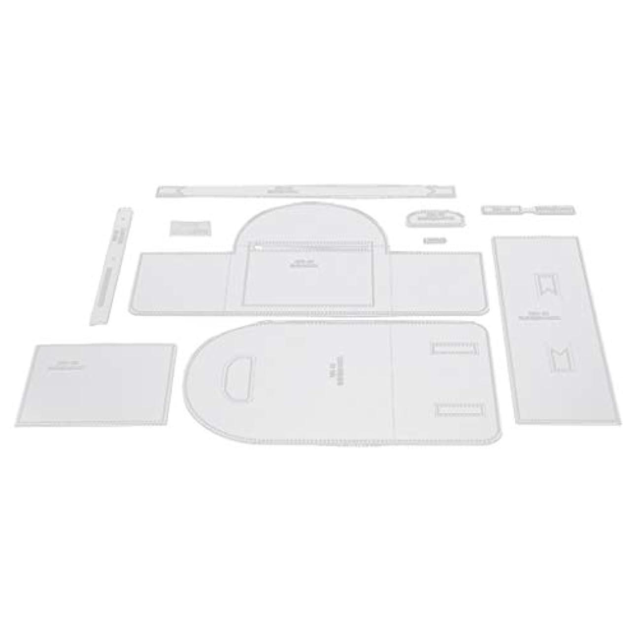 返済ホールドオール愚かバックパック パターン テンプレート ステンシル アクリル 型紙 透明 簡単 全2サイズ - クリア, L