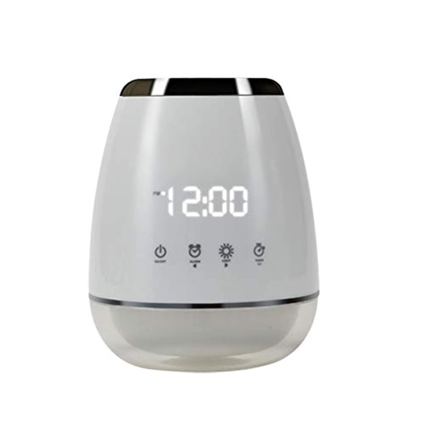 縁石反毒不正確エッセンシャルオイル アロマディフューザー 空気加湿器 アロマセラップ LED 超音波 クールミスト フォガー 加湿器 ディフューザー スプレー 家庭用 USプラグ付き ホワイト