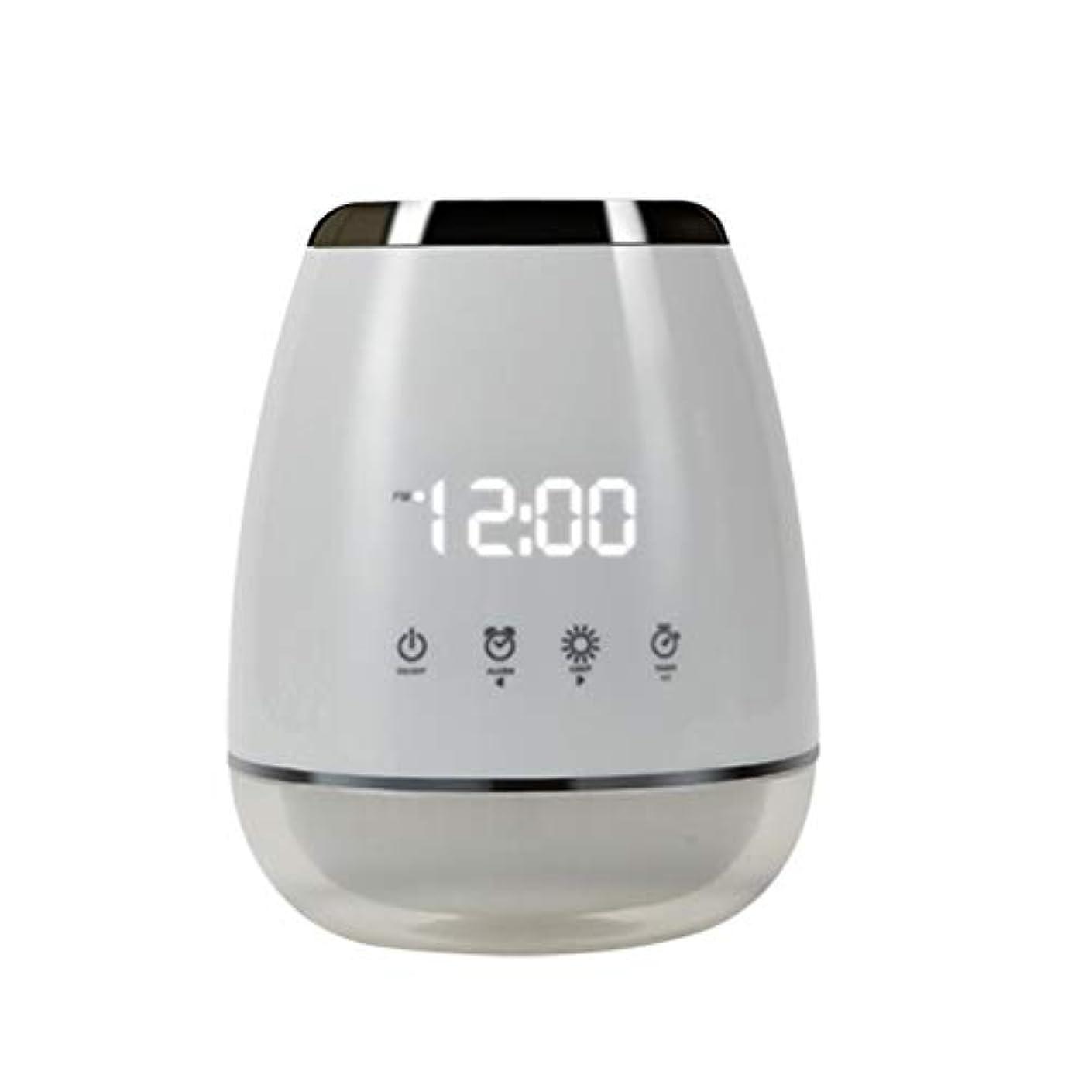シェル調整可能平日エッセンシャルオイル アロマディフューザー 空気加湿器 アロマセラップ LED 超音波 クールミスト フォガー 加湿器 ディフューザー スプレー 家庭用 USプラグ付き ホワイト