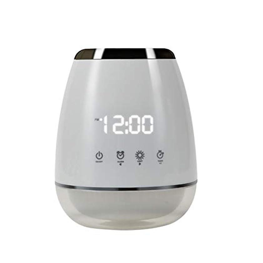 エッセンシャルオイル アロマディフューザー 空気加湿器 アロマセラップ LED 超音波 クールミスト フォガー 加湿器 ディフューザー スプレー 家庭用 USプラグ付き ホワイト