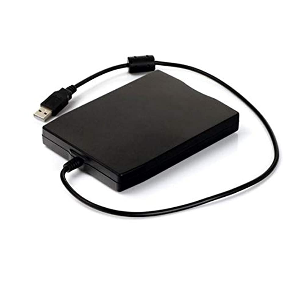 黒商人慈善3.5インチ1.44MB FDDブラックUSBポータブル外部インターフェイスフロッピーディスクFDD外部USBフロッピードライブ(ラップトップ用)