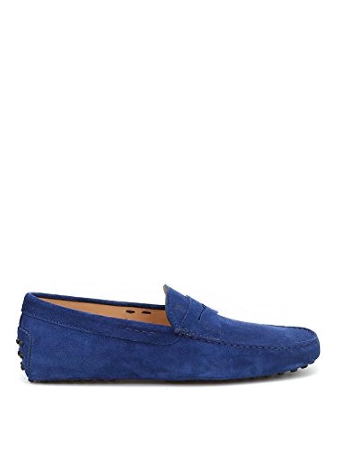 ピアース礼拝悪性Tod's メンズ XXM0EO00010RE0U607 ブルー セーム 布鞋