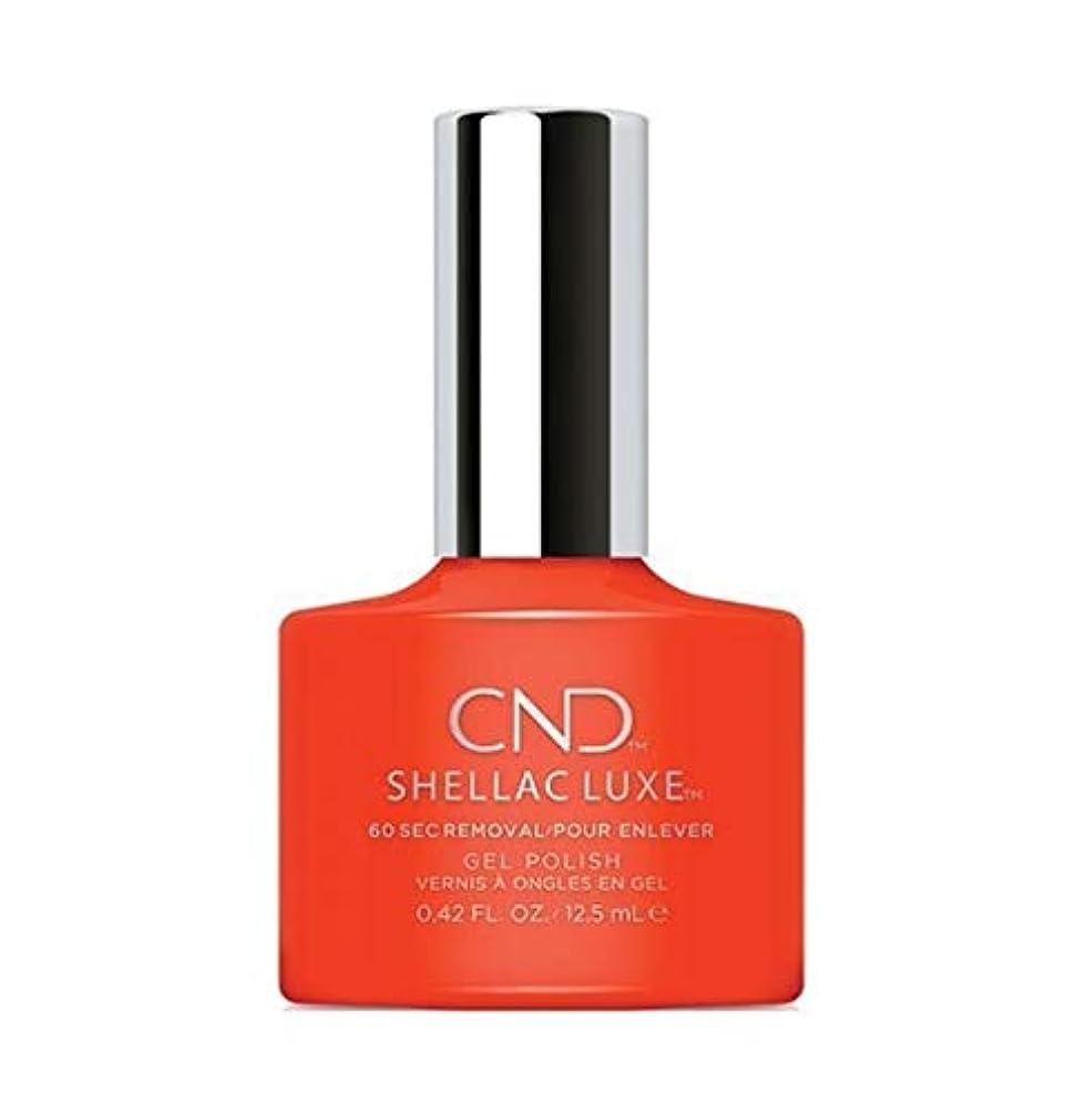 曲がったしなやかなリーガンCND Shellac Luxe - Electric Orange - 12.5 ml / 0.42 oz
