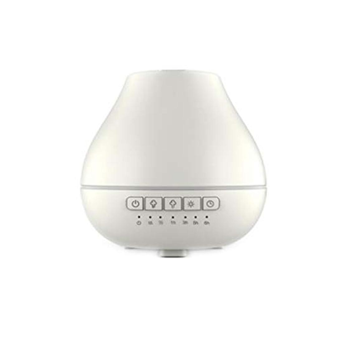 不定拍車反抗色LEDライトが付いている200ml超音波冷たい霧の加湿器は家のヨガのオフィスの鉱泉の寝室の拡散器を変えます (Color : White)