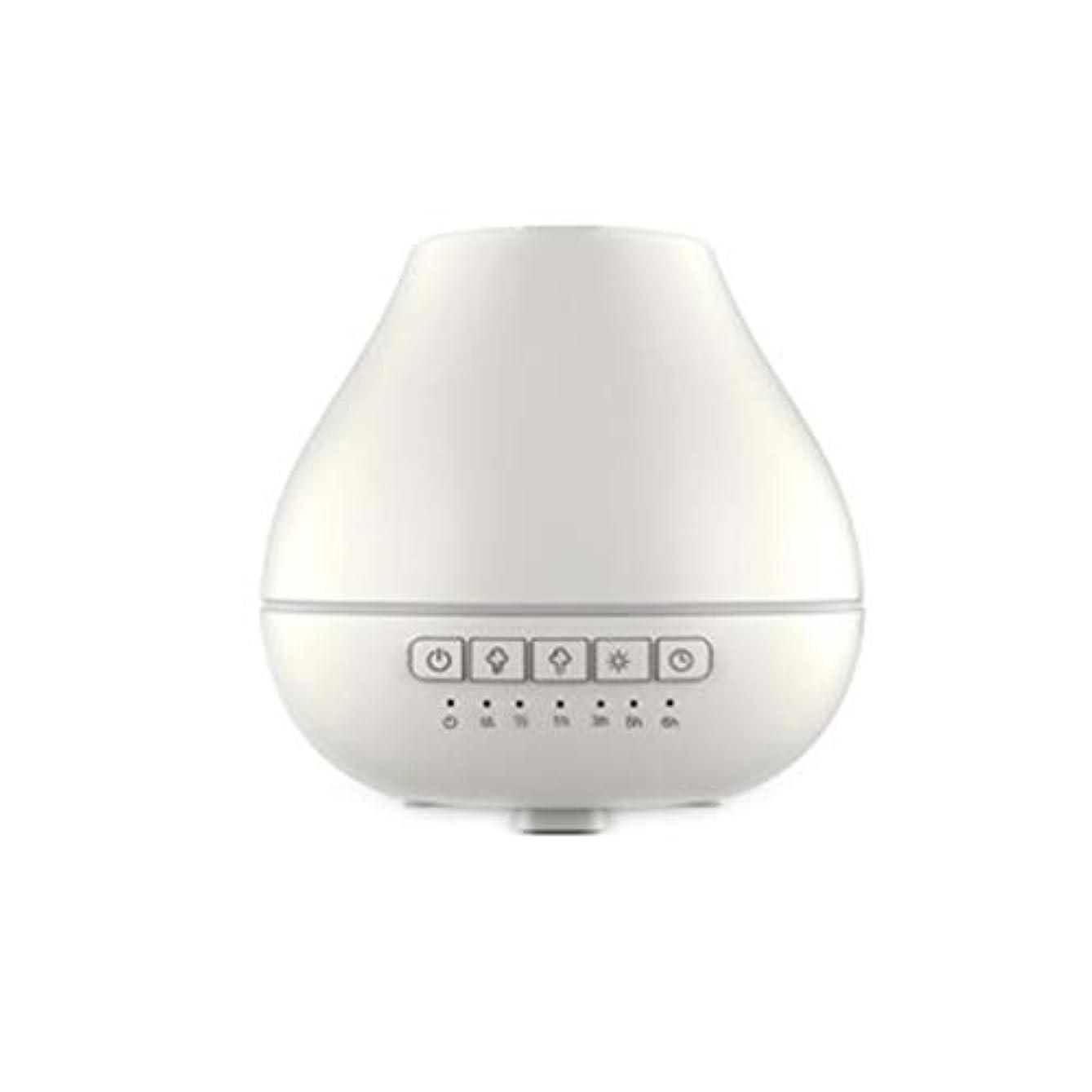 トーナメントワンダーヨーグルト色LEDライトが付いている200ml超音波冷たい霧の加湿器は家のヨガのオフィスの鉱泉の寝室の拡散器を変えます (Color : White)