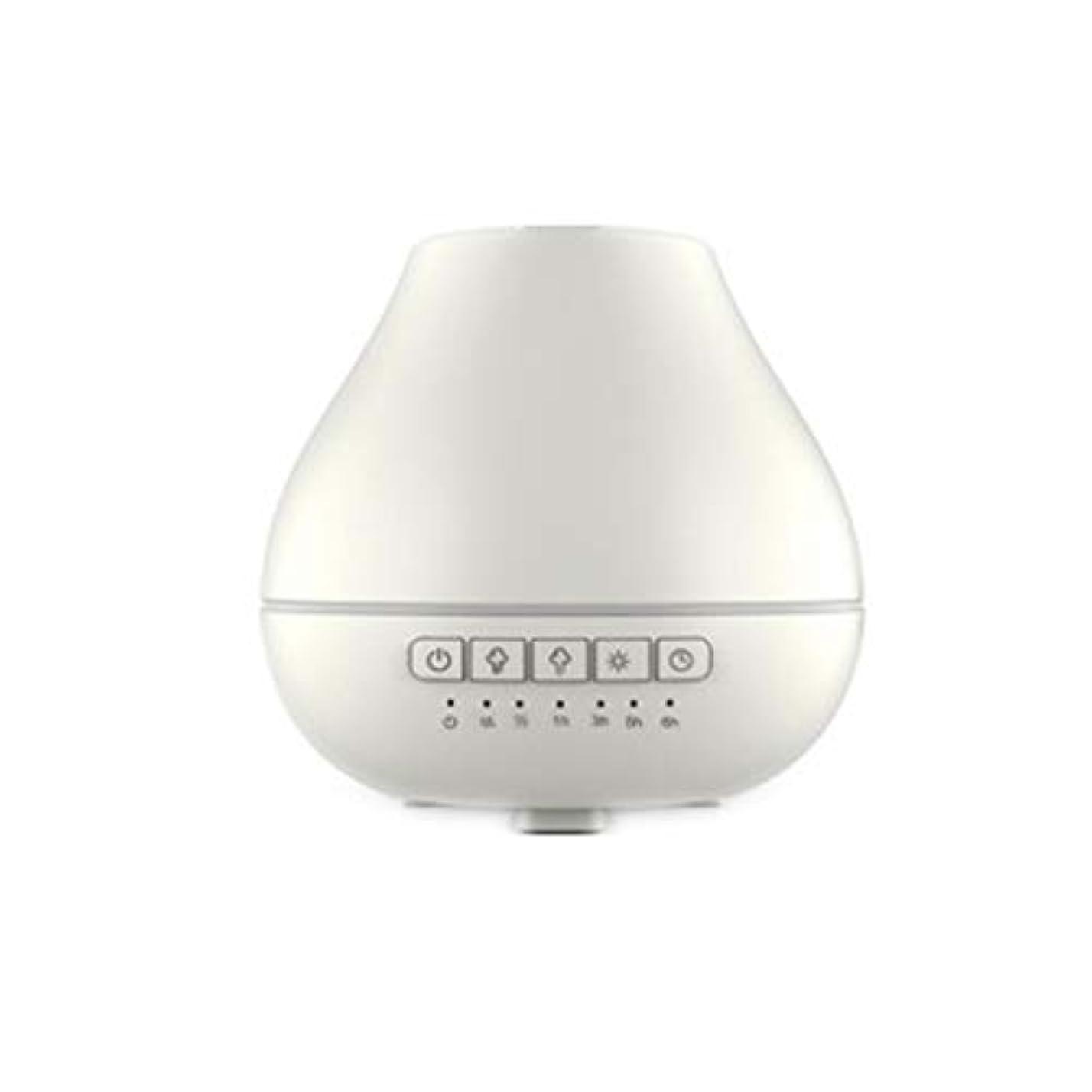 ズームインするピンチ正直色LEDライトが付いている200ml超音波冷たい霧の加湿器は家のヨガのオフィスの鉱泉の寝室の拡散器を変えます (Color : White)