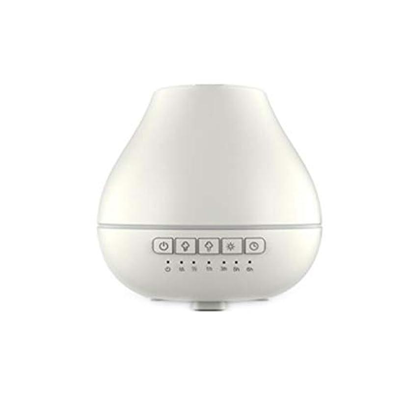 マイクロ間に合わせメキシコ色LEDライトが付いている200ml超音波冷たい霧の加湿器は家のヨガのオフィスの鉱泉の寝室の拡散器を変えます (Color : White)