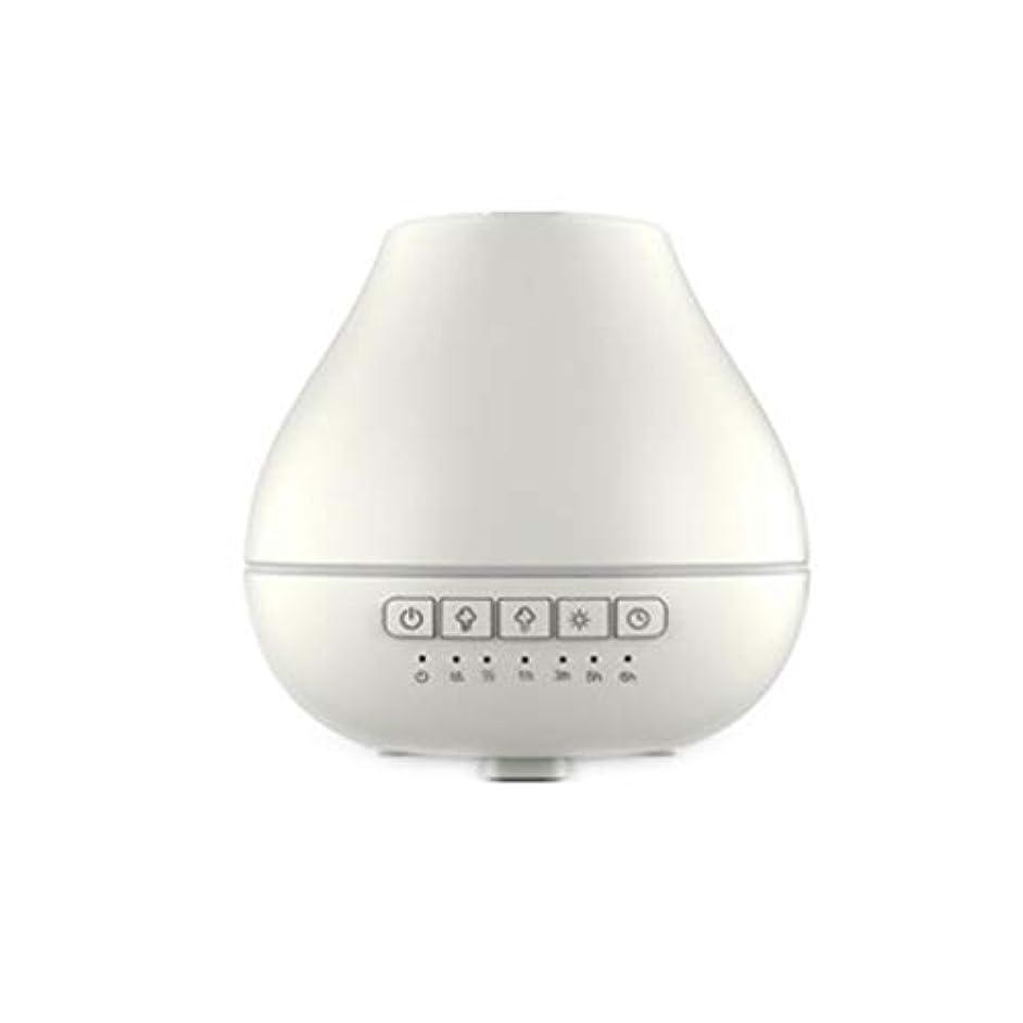 受動的レクリエーションジェム色LEDライトが付いている200ml超音波冷たい霧の加湿器は家のヨガのオフィスの鉱泉の寝室の拡散器を変えます (Color : White)