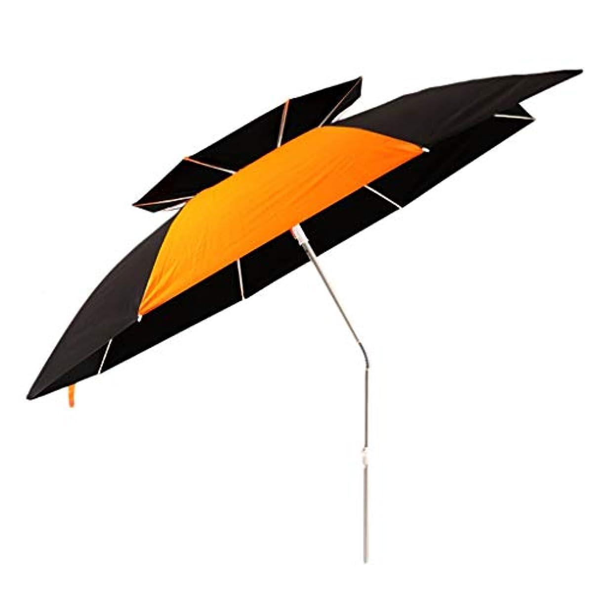 能力リーク小さな太陽傘アルミ合金オックスフォード回転日焼け止め雨折りたたみ傘屋外サンシェード傘 (サイズ さいず : Diameter1.8m)