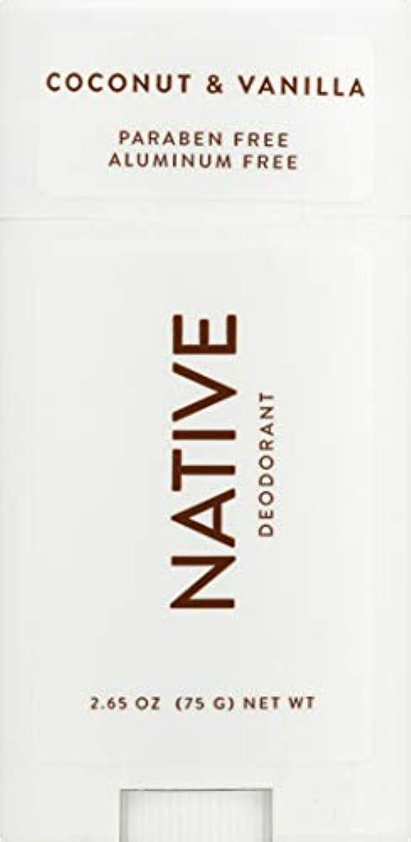 木製カード電池ネイティブ Native ココナッツ & バニラ ナチュラル デオドラント 2.65oz [並行輸入]